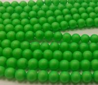 4mm SWAROVSKI® ELEMENTS Neon Green Crystal Pearl Beads - 50 pearls for jewellery making, beadwork and craft
